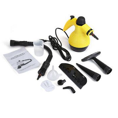 Multifunction Portable Steamer Steam Cleaner W/Attachments New